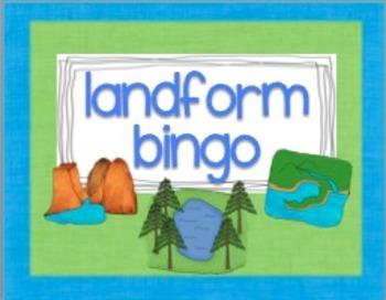 Geography - landform bingo
