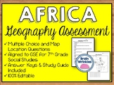 Geography of Africa Assessment (SS7G1, SS7G2, SS7G3, SS7G4)