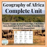 Geography of Africa COMPLETE UNIT Human & Physical CCSS Aligned