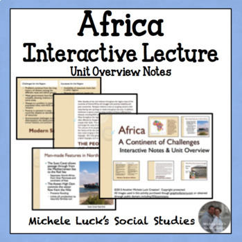 Geography of Africa Complete Overview Interactive Lecture Notes