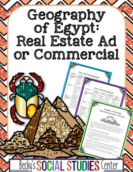 Geography of Ancient Egypt Project: Create a Real Estate Ad or Commercial
