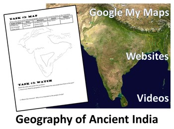 Geography of Ancient India Hyperdoc - My Map Exploration