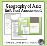 Geography of Asia Unit Study Guide & Test