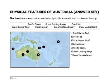 Geography of Australia (Worksheet)