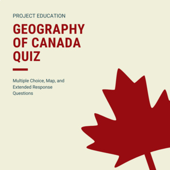 Geography of Canada Quiz Google Docs Version