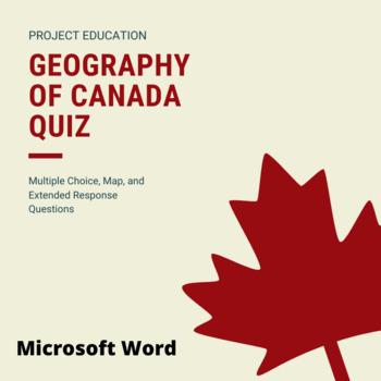 Geography of Canada Quiz - Microsoft Word