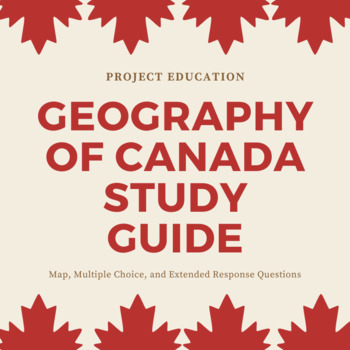 Geography of Canada Study Guide