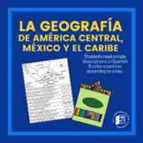 Geography of Central America, Mexico & Caribbean coloring