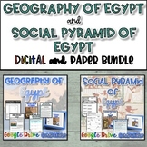 Geography of Egypt and Social Pyramid Bundle {Digital AND Paper}