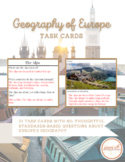 Geography of Europe Review Task Cards