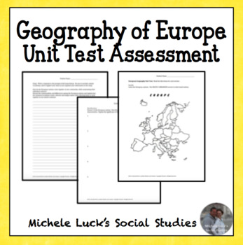 Geography of Europe Unit Test & Study Guide