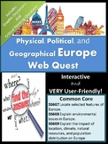 Geography of Europe Webquest!
