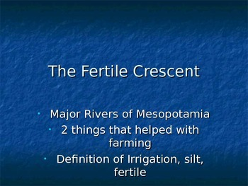 Geography of Fertile Crescent