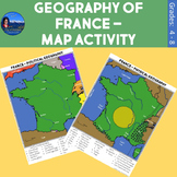 Geography of France - Map Activity
