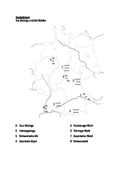 Geography of Germany maps packet