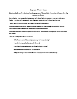 Geography of Greece Introduction Game