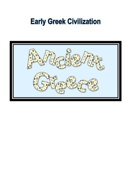 Geography of Greece/Early Greek Civilization