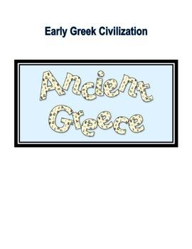 Geography of Greece/Early Greek Civilization