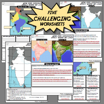 Geography of India - ENGAGING, CHALLENGING lesson!