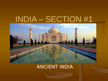 Geography of India and Ancient India Guided Notes - Journe