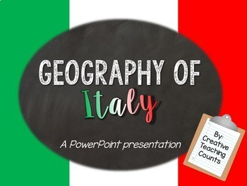 Geography of Italy Powerpoint