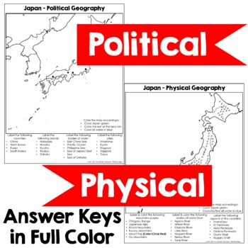 Geography Of Japan Map Activity By The Colorado Classroom TpT - Japan map activity