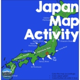 Geography of Japan - Map Activity