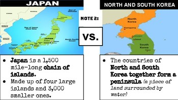 Geography of Japan and the Koreas PowerPoint