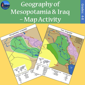 Geography of Mesopotamia  Iraq  Map Activity by The Colorado
