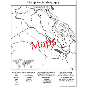 Geography of Mesopotamia & Iraq - Map Activity