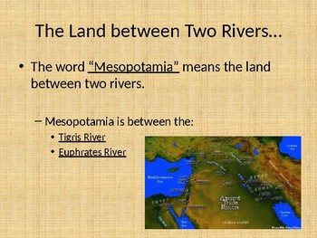 Geography of Mesopotamia (Powerpoint)