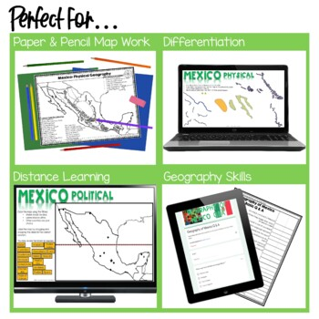 Geography of Mexico - Map Activity by The Colorado Classroom | TpT