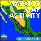 Geography of Mexico - Map Activity