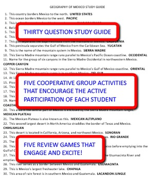 Geography of Mexico: Study Guide and Activity Pack