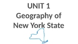 Geography of New York State Vocabulary Cards