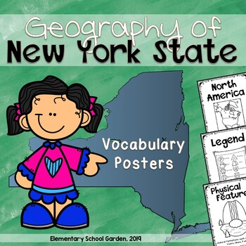 Geography of New York State Vocabulary Posters