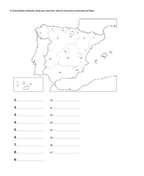 Geography of Spain test