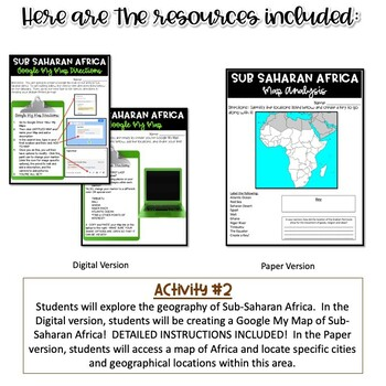Geography of Sub-Saharan Africa Activity
