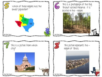 Geography of Texas Task Cards