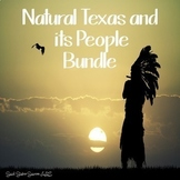 Geography of Texas and American Indians Bundle for Texas History 7th Grade