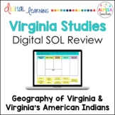 Virginia's Geography & American Indians Google Drive Review (VS.2 & VS.10b)