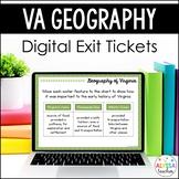 Geography of Virginia Digital Exit Tickets (VS.2)