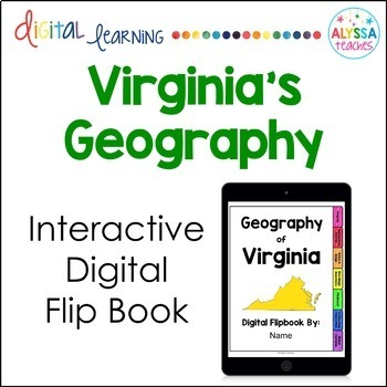Geography of Virginia Digital Flip Book (VS.2)