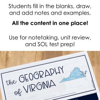 Geography of Virginia Flip Book (VS.2)