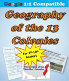 Geography of the 13 Colonies Lesson Plan