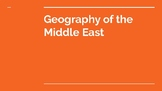 Geography of the Middle East Power Point