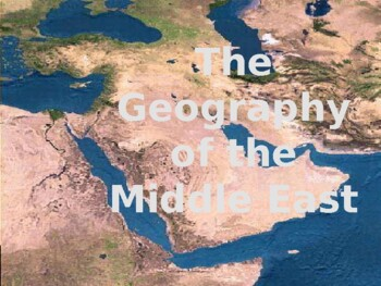 Geography of the Middle East PowerPoint