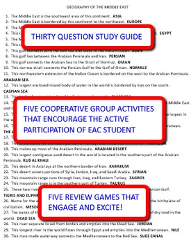 Geography of the Middle East: Study Guide and Activity Pack