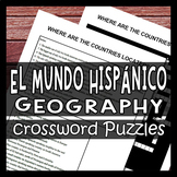 Geography of the Spanish Speaking World - Culture Crossword Puzzle Worksheets