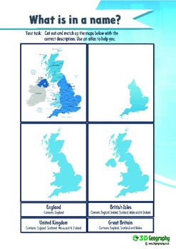 Geography of the UK - 12 worksheets and activities